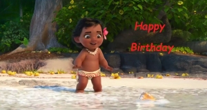 moana birthday cards