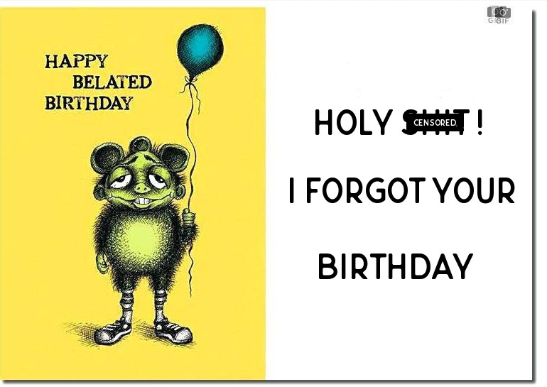 belated birthday ecards