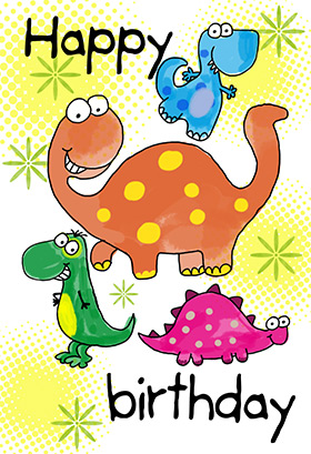 dinosaur greeting cards
