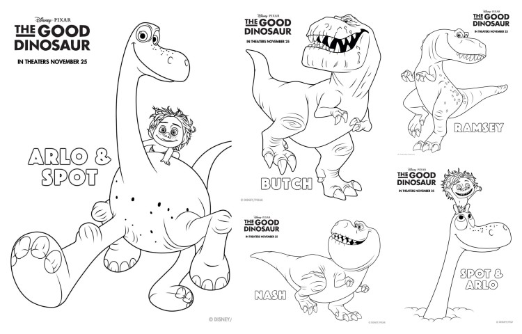 good dinosaur Coloring Pages