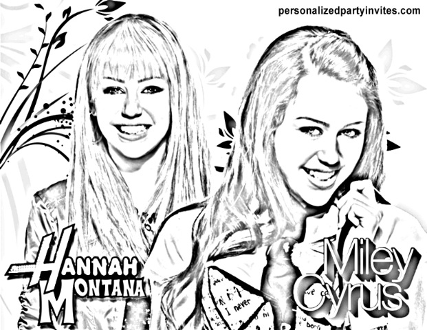 printable hannah montana coloring pages - photo#22