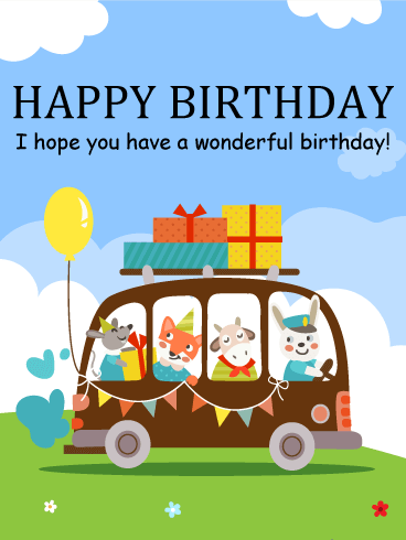Free kids birthday greeting cards kids greeting cards birthday m4hsunfo
