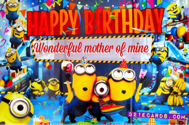 Free Minions Birthday Greeting Cards – Minion Happy Birthday Card