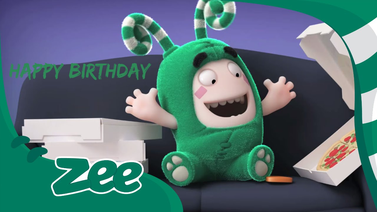 oddbods zee birthday cards