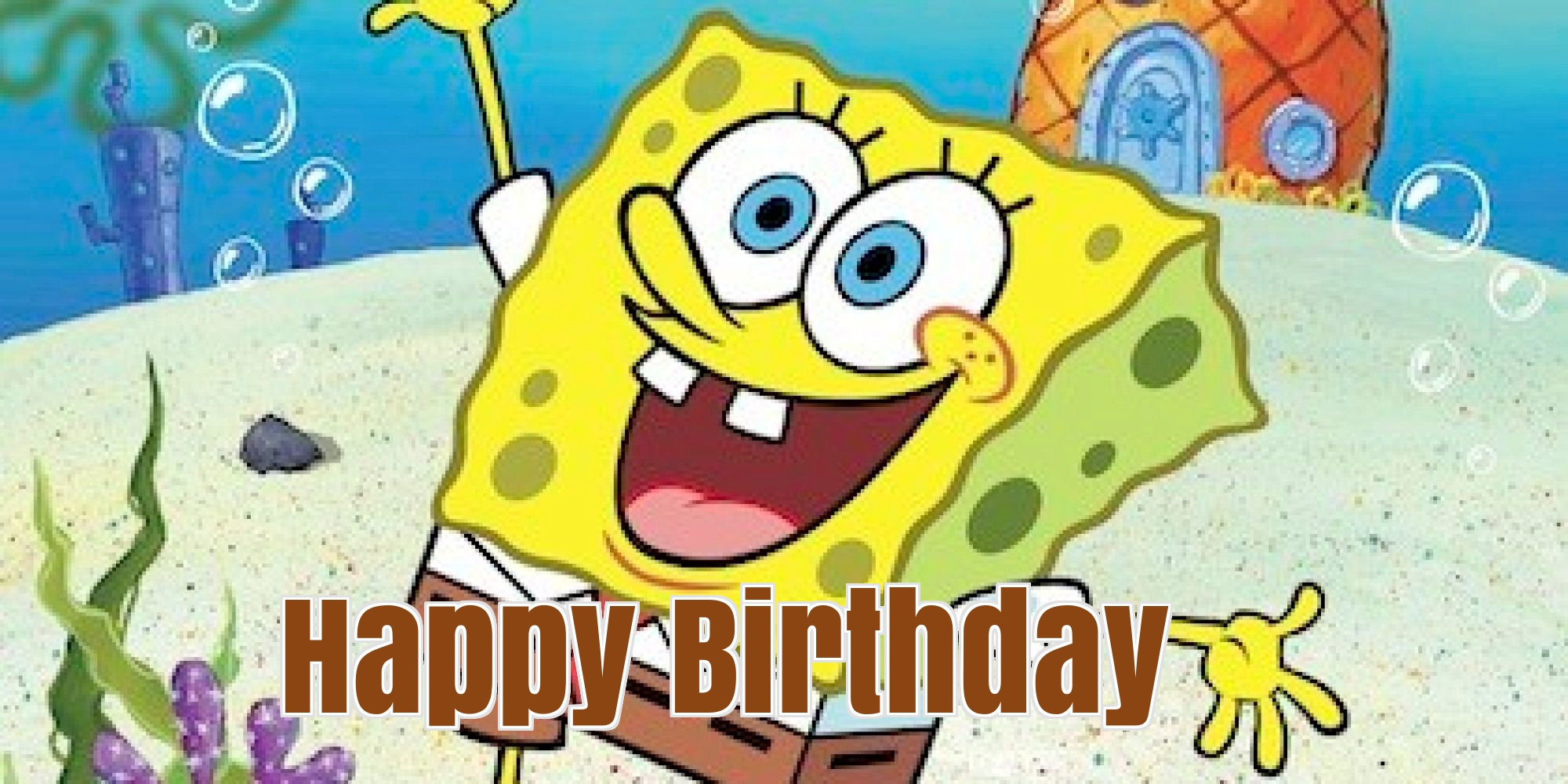 spongebob birthday cards