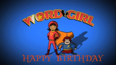 wordgirl birthday cards