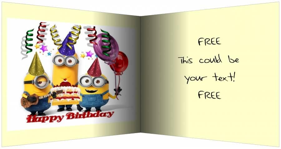 minions Greeting card