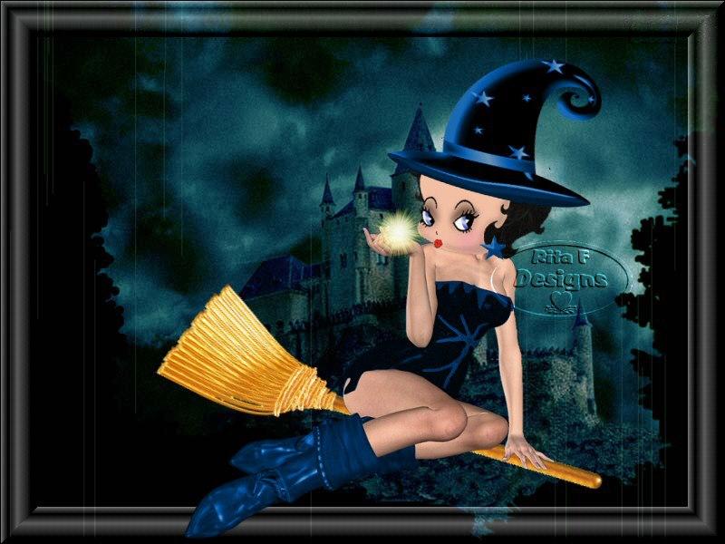 Betty Boop Halloween Cards