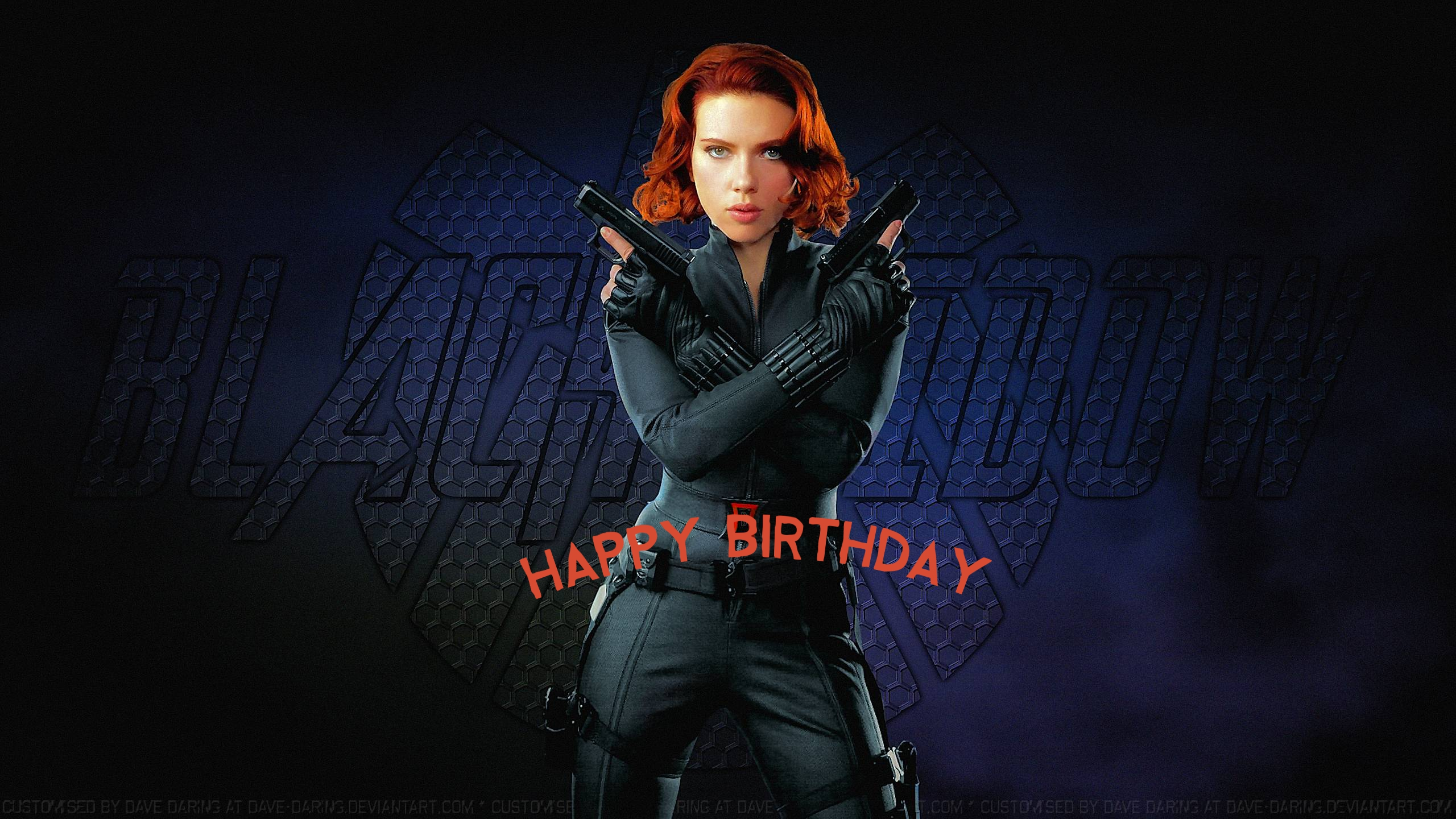 Black Widow birthday cards