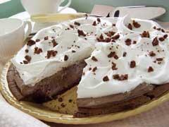Mile-High Fudge Brownie Pie