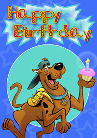 Scooby Doo birthday cards