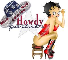 betty boop cowgirl cards