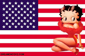 Betty Boop International Flag