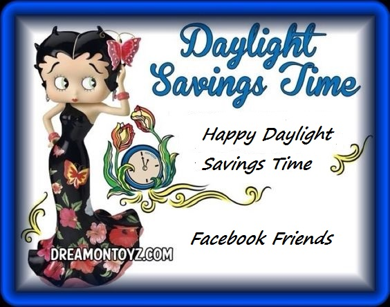 Betty Boop daylight savings Cards