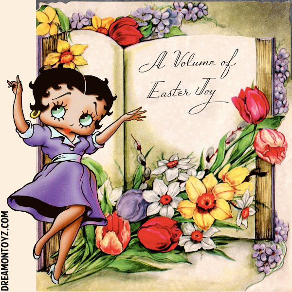 Betty Boop easter Cards