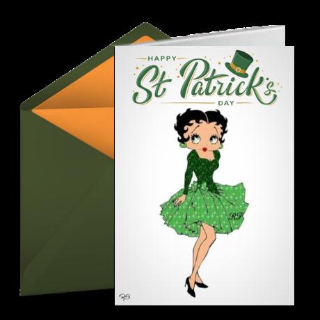 betty boop st.patricks cards