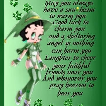 Betty Boop St. Pats Cards