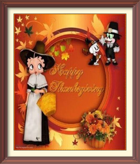 betty boop thanksgiving cards