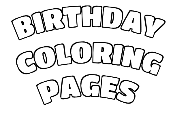 birthday day coloring