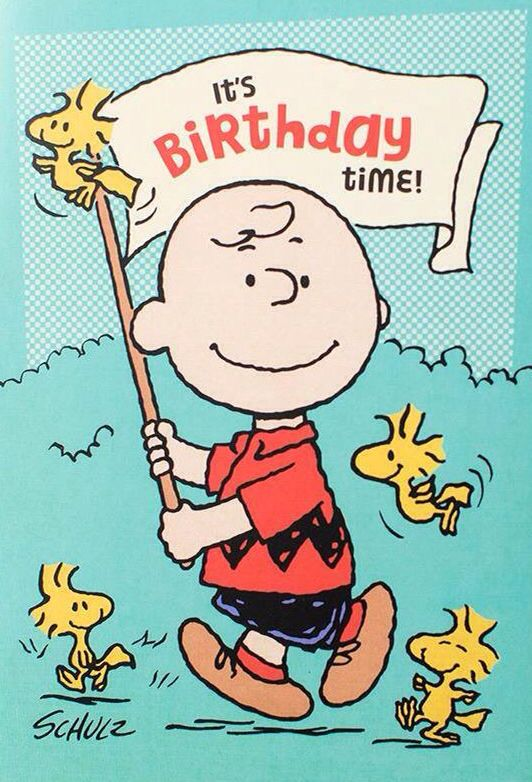 charlie brown birthday cards