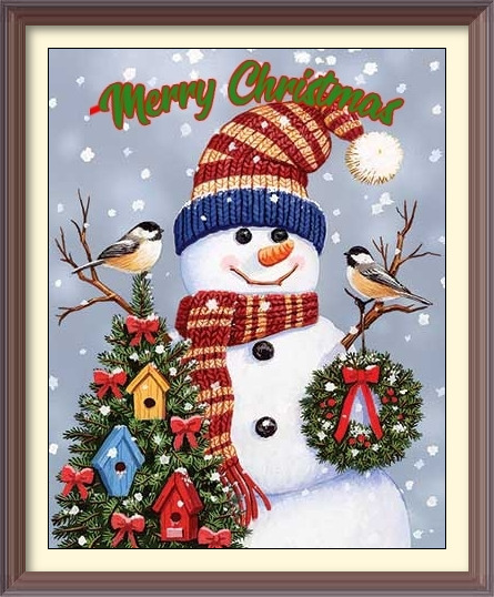 christmas snow man cards