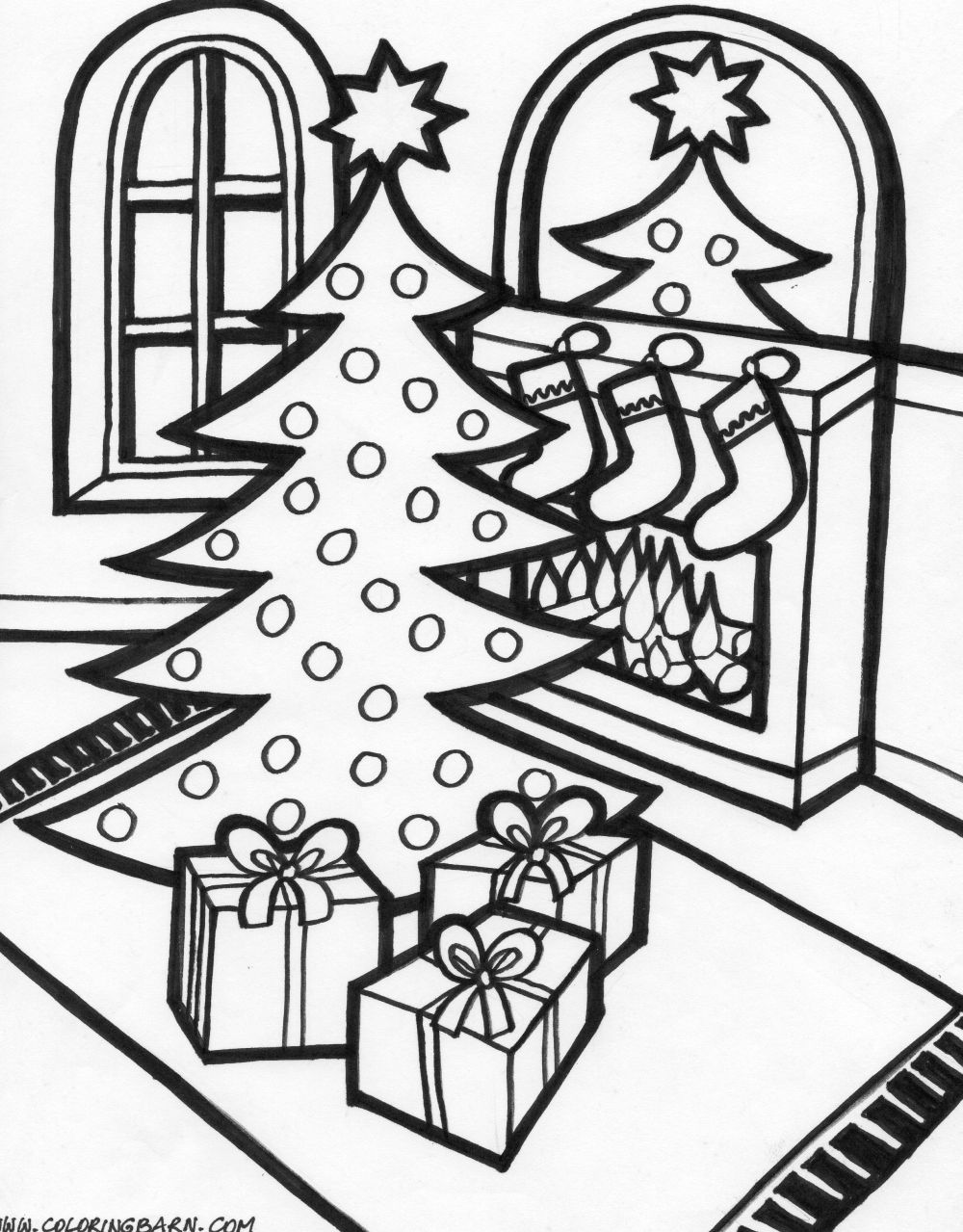 winter scene coloring pages printable - christmas scene coloring pages coloring pages