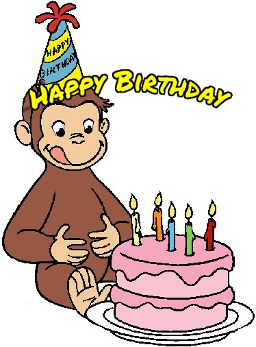 curious george birthday cards