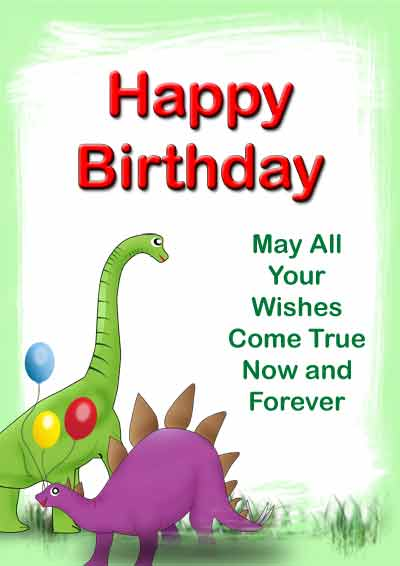 dinosaur birthday cards
