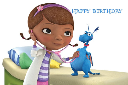 Doc McStuffins birthday cards