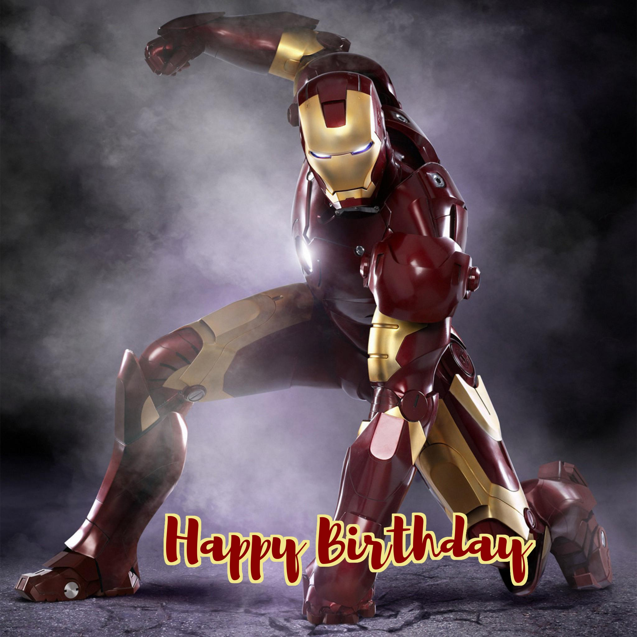 iron man birthday cards