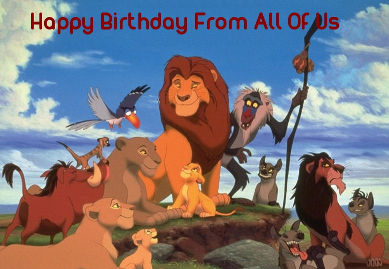 Free Lion King Birthday Greeting Cards