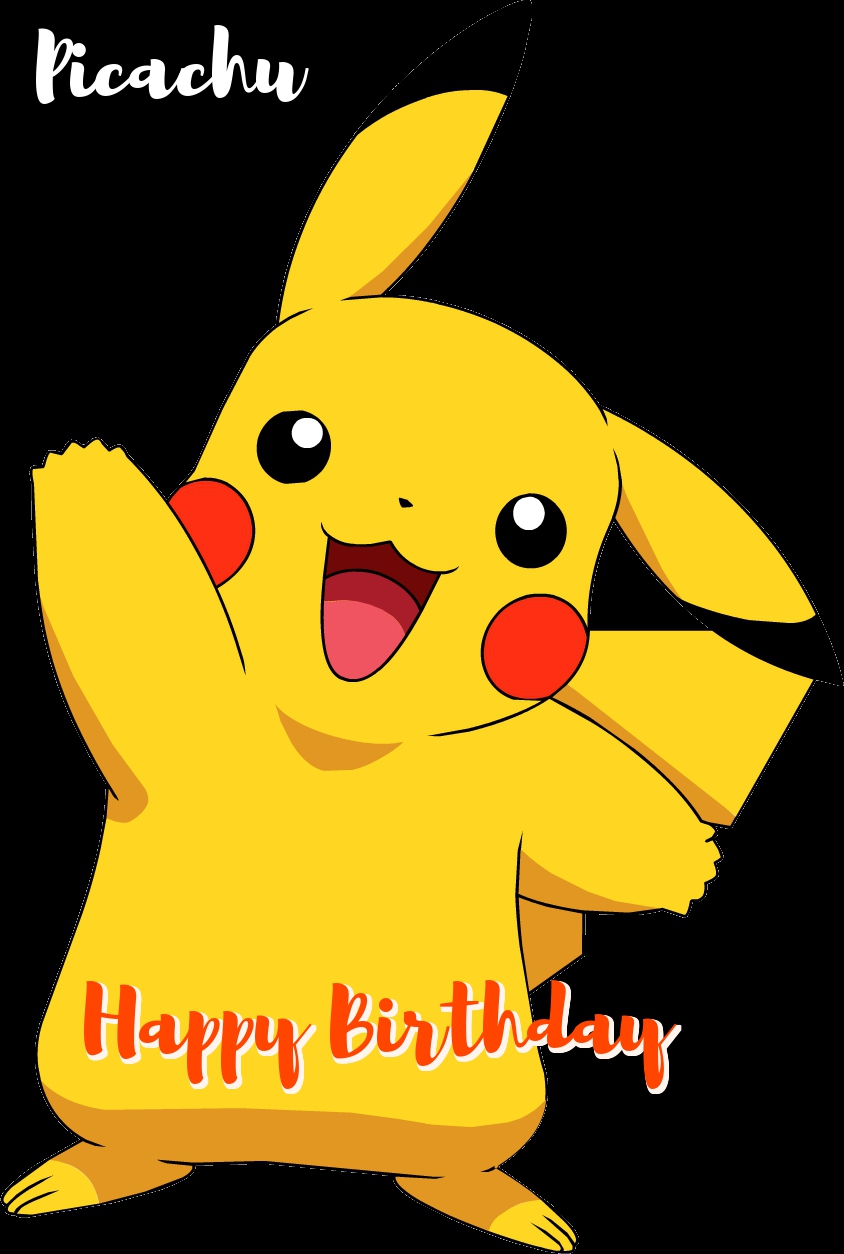 Free Pokeman Birthday Greeting Cards