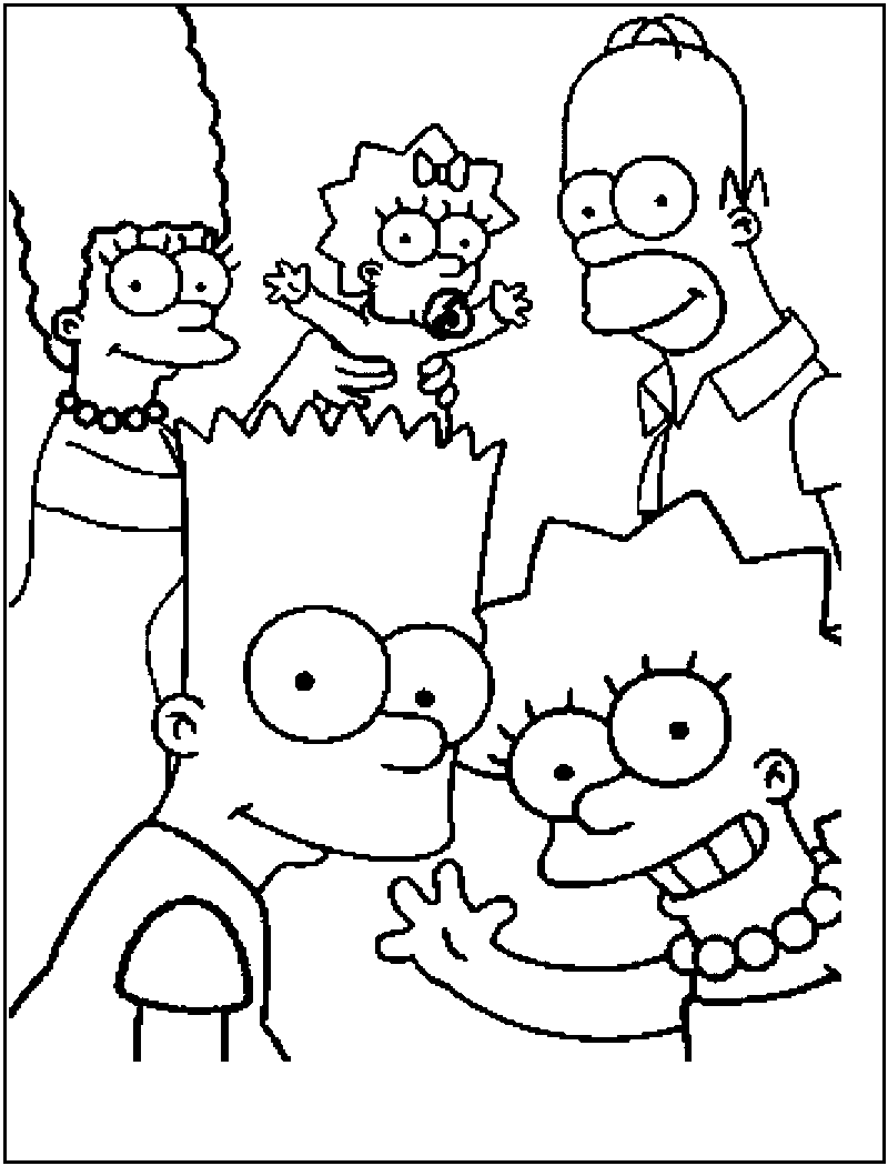 The Simpsons Coloring Pages The Simpsons Coloring Pages