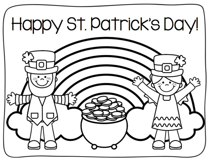 st-pats-coloring coloring pages