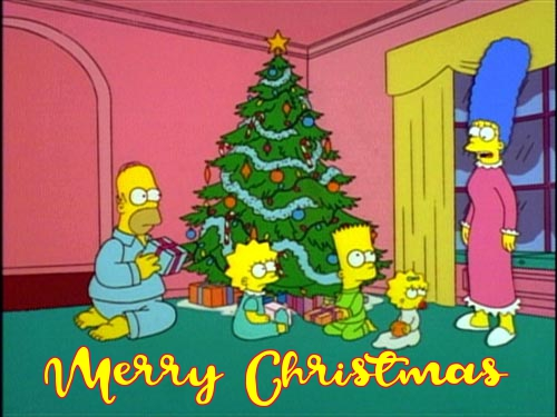 the simpsons christmas cards
