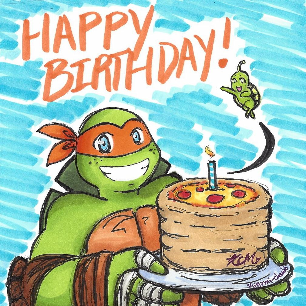 Жизни, черепашки ниндзя открытки на день рождения